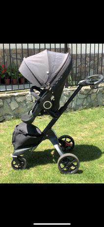 Бебешка количка stokke v5 black