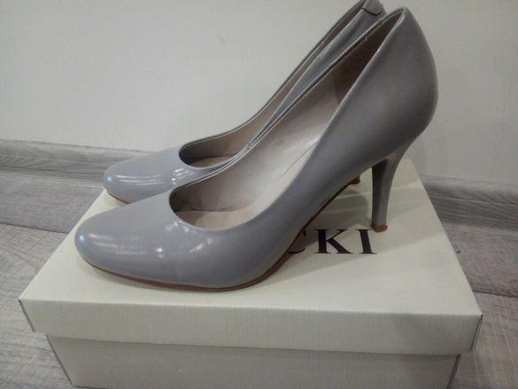 Елегантни обувки естествена кожа