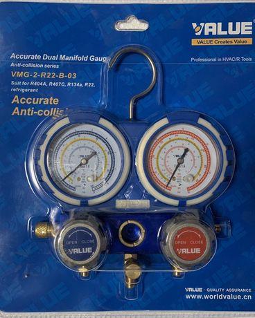 Baterie manometre profesionale value freon clima aer conditionat r134