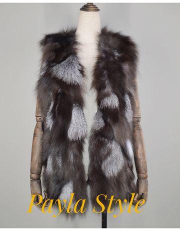 Пухен елек, 100% естествен косъм от лицица