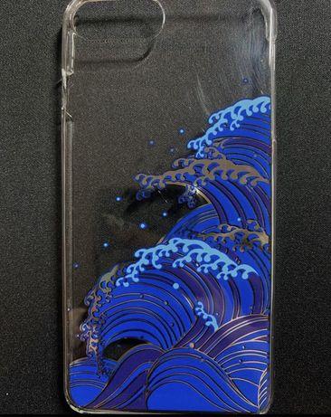 "husaiPhone 7+ / 8+ transparenta  cu model inspirat dupa ""The Great Wav"
