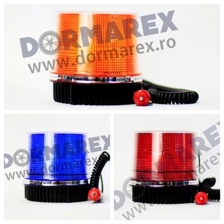 Girofar LED galben stroboscopic magnet - Girofar albastru rosu