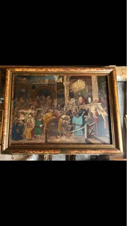 "Tablou vechi tema biblica ""Ecce uomo"", sec. XIX"