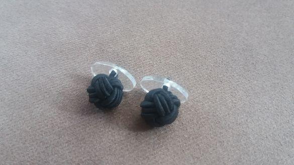 Копчета за ръкавели (бутонели) с черни възли