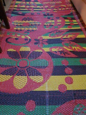 Циновка, коврик, яркая ковровая дорожка рыжая 91х170 смпо япон техн