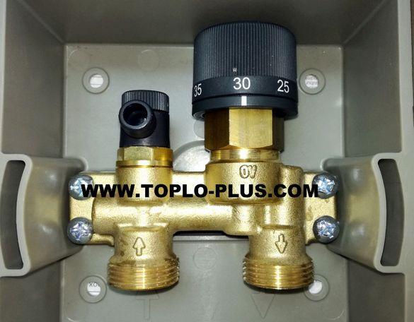Термостатичен Вентил за подово отопление Unibox E RTL