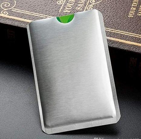 Алуминиев калъф протектор за безконтактни кредитни и дебитни карти фол