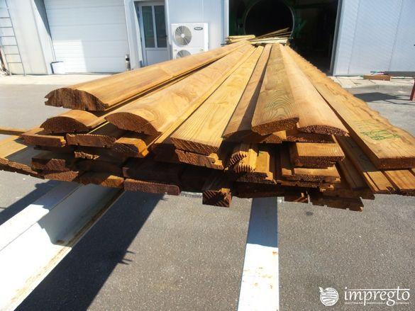 Импрегниране на дървен материал доставен от клиент