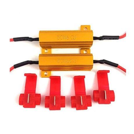 Kомплект 2 броя Товарен резистор съпротивление 50W 6 Ома Стоп Мигач