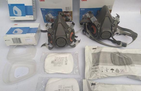 3М 6300 маска+6057филтри ABE 1,филтри 5935 P3R +капаци +Подарък 5935