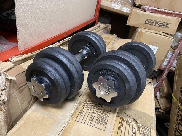Gantere reglabile profesionale noi 17,5 kg+17,5 kg=35 kg noi otel crom
