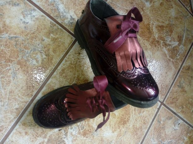 Pantofi fetița de piele Melania
