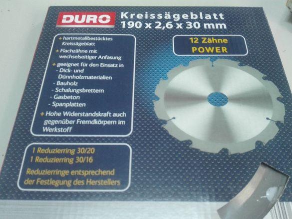 Диск за ръчен циркуляр DURO 190 X 2.6 X 30mm