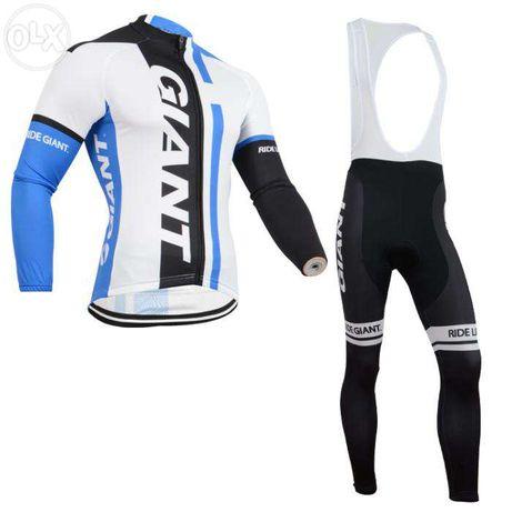 Echipament ciclism giant iarna set pantaloni si bluza thermal NOI