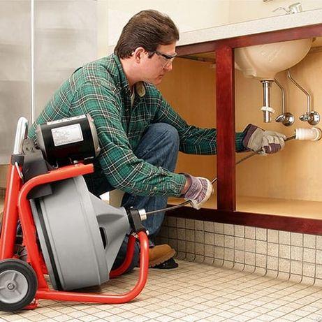 Услуги сантехника,чистка канализаци,устранение запаха.