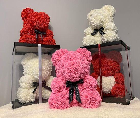 Мишка из роз подарки плюшивые Мишка қонжық