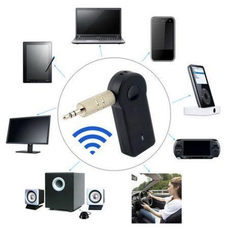 Блутут трансмитер и високоговорител за автомобил, FM, 3.5mm, Черен