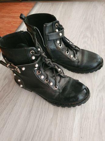 Ботинки осенние чёрные детские