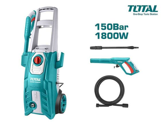 Водоструйка електрическа 1800 W, 150 bar, 6 л/мин, TOTAL TGT11356