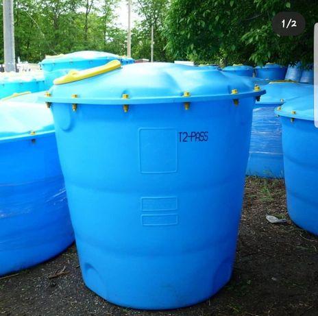 Емкость для воды Лепесток, бак для строительства 5000л, 10000л