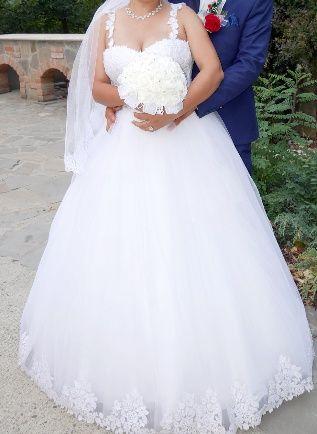 Rochie de mireasa, marimea 46. Corset reglabil