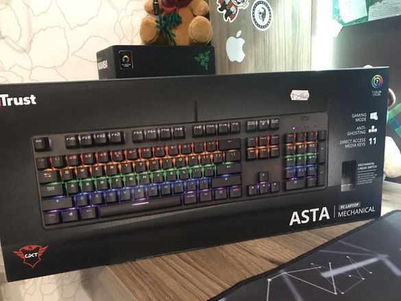 Геймърска клавиатура Trust Asta