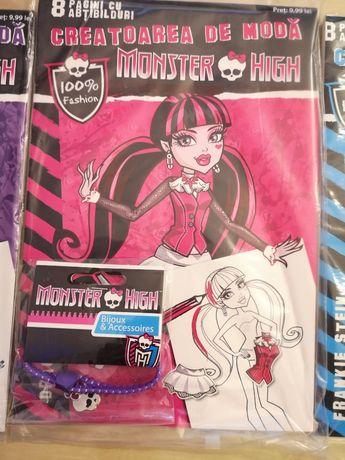 Carte cu activitati si accesoriu Monster High