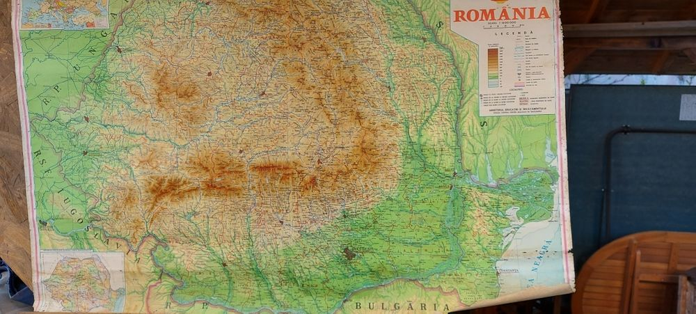 Harta Republicii Socialiste România Bucuresti - imagine 1