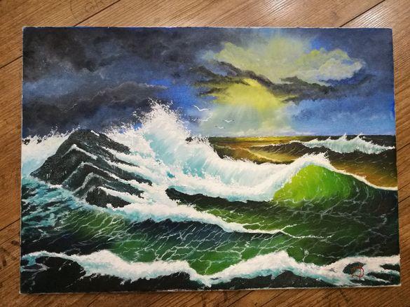 """Маслена картина """" Следващата вълна"""""""