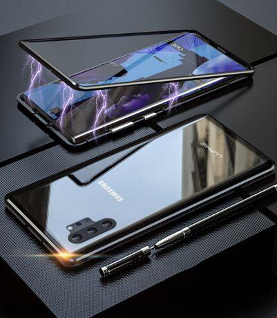 Husa bumper Samsung Note 10 Plus magnetic 360 + folie sticla spate
