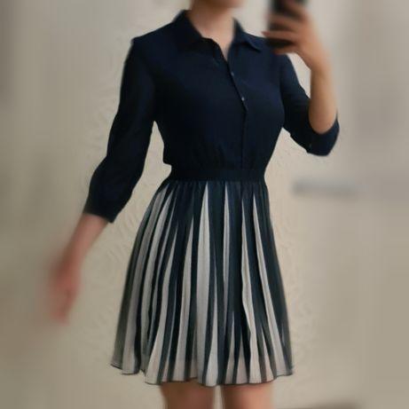 Шифоновое женское платье размер XS (40)