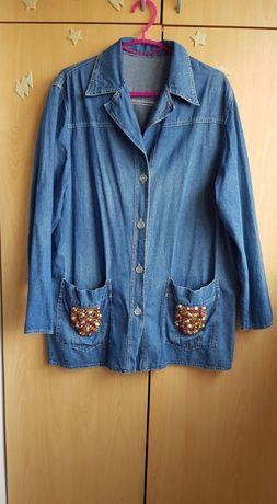 Дънкено тънко сако и тънка дълга риза/туника/