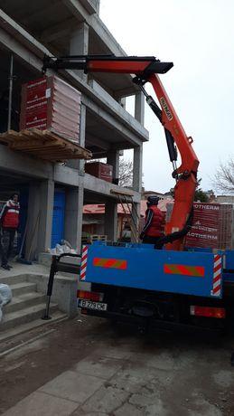 Servicii transport marfa cu macara sau lift non stop