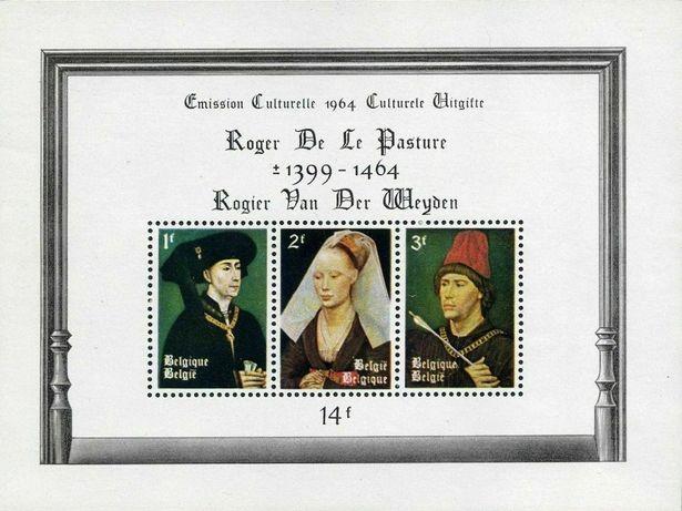 Super timbre colita nestampilata Belgia pictura Rogier van der Weyden