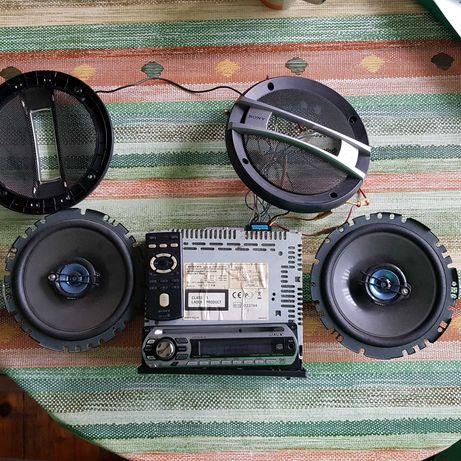 MP3  плеър Sony и говорители  Sony Xplod.
