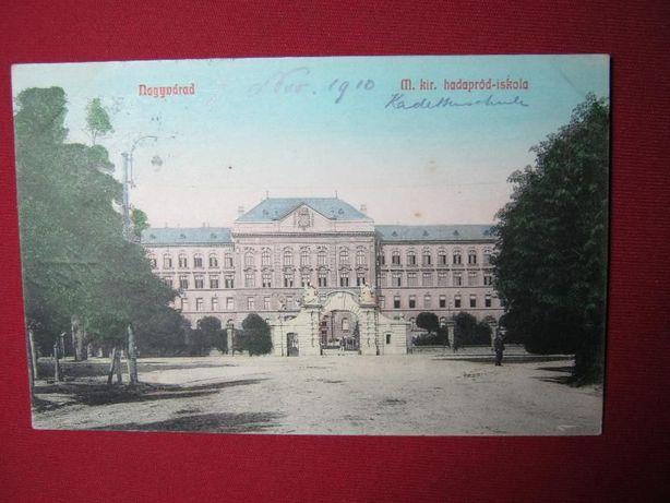 Ilustrata veche,Oradea,scoala de subofiteri.1910.