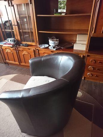 Scaun birou din piele ecologica si sezut din textil