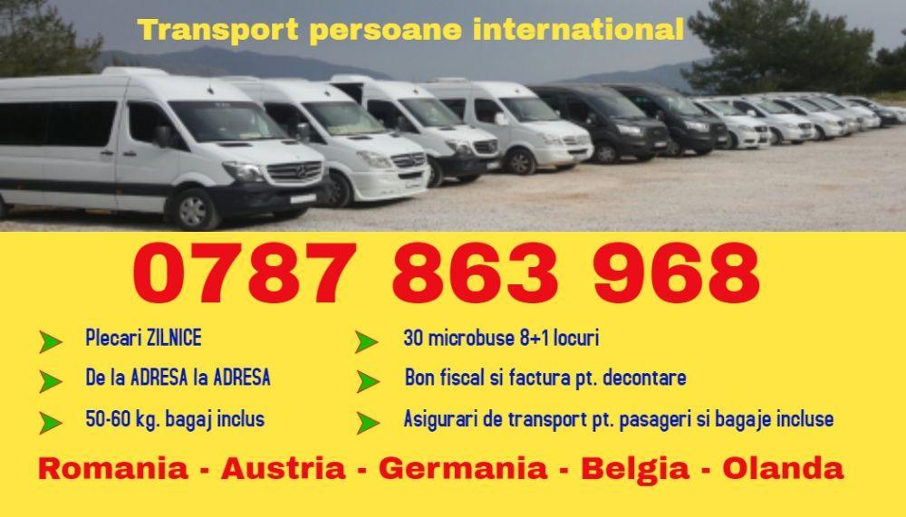 ZILNIC transport persoane mh s Romania Austria Germania plecari adresa Drobeta-Turnu Severin - imagine 1