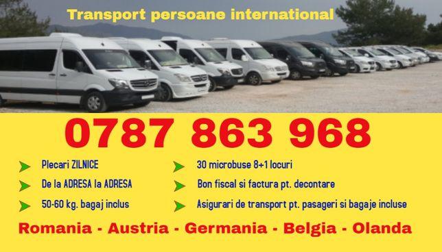 ZILNIC transport persoane mh s Romania Austria Germania plecari adresa