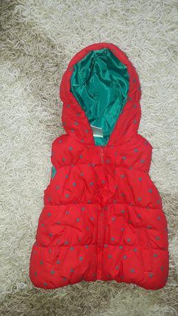 Теплый жилет для малыша