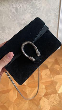 Сумка Gucci Super Mini dionysus black suede