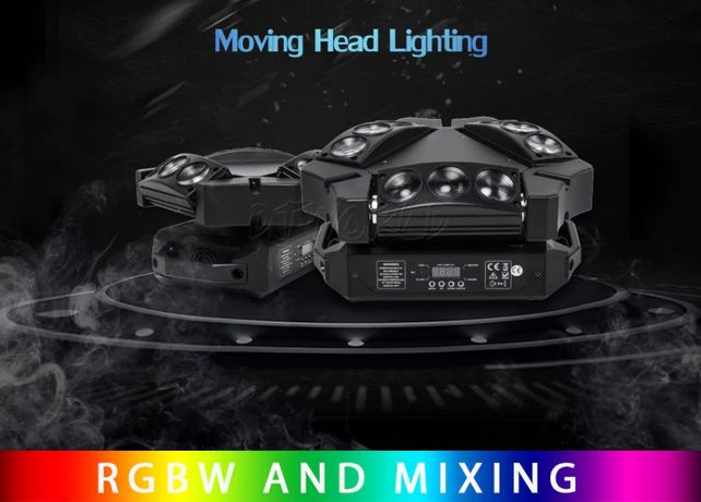 Moving Head LED Beam 9X10 W -Spider Lumini DJ