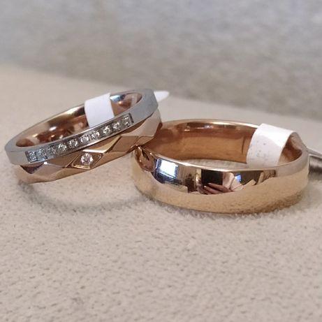 Продам позолоченные кольца обручальные ювелирный титановый сплав