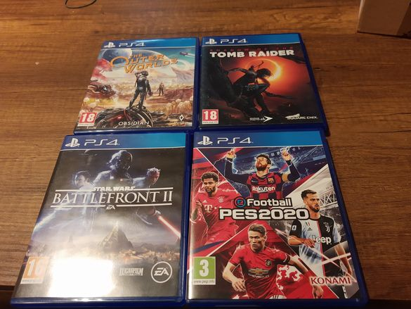 Outer Worlds, Shadow of Tomb raider, Battlefront 2 , Pes 2021 ps4