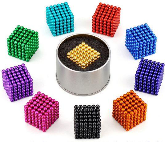 Bile magnetice Neocube, 5 mm, 216 piese, joc puzzle