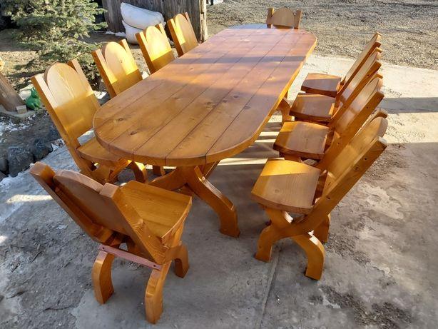 """"""" Mobilier Gradina"""" set masa + 10 scaune (masa cu scaune)"""
