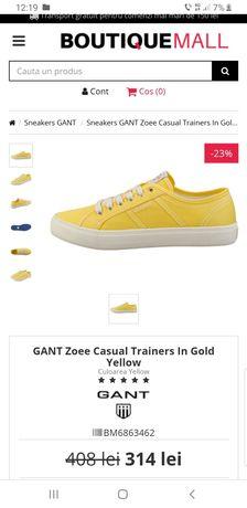 Tenisi Originali Gant Zoee gold yellow Suedia