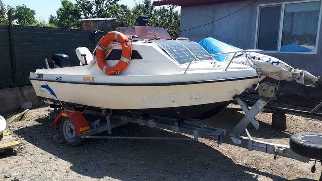 Ocazie - Barca Cabinata STP 45 + Suzuky 50 hp/4T + Peridoc 750 kg
