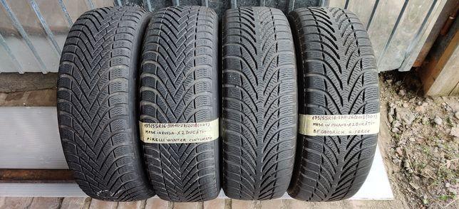 195/55 R16 - 4 anvelope Pirelli/BF-Goodrich M+S - iarna -DOT:2018-7mm!