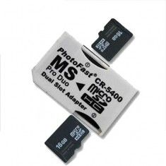 Adaptor micro SD la Pro Duo dual produo SONY, PSP, etc... !